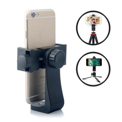 Lammcou Smartphone Tripod Adapter Universal Cell Phone Clamp Mount Adapter Clip Mount Replacement for iPhone X,8/7/6/6s,6/6s/7 Plus,Galaxy S9/S9+,S8/S7/S7 Edge + Lightweight Tripod Gorillapod Monopod