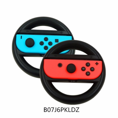 Switch Steering Wheel, Lammcou Switch Wheel Handle Set for Nintendo Switch Joy-con Controller - Black(2 Pack)